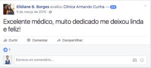 Depoimento Elidiane Borges Clinica Cirurgia Brasilia DF
